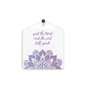 Quiet The Mind  All Occasion Thumb-Tack Canvas Art Card 4 pack