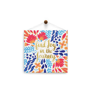 Joy in the Journey  Birthday Thumb-Tack Canvas Art Card