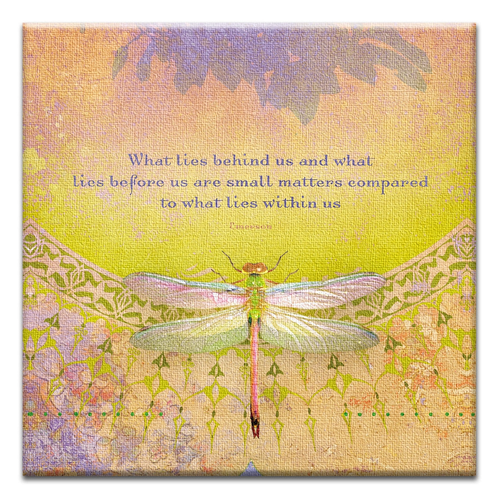 What Lies Within  All Occasion Thumbtack Canvas Art Card 4 pack