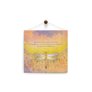 What Lies Within  All Occasion Thumb-Tack Canvas Art Card