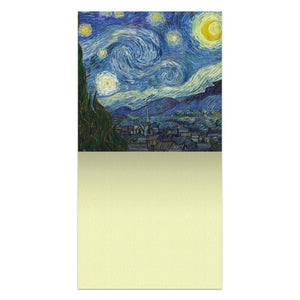 Van Gogh Starry Night  All Occasion Thumb-Tack Canvas Art Card 4 pack