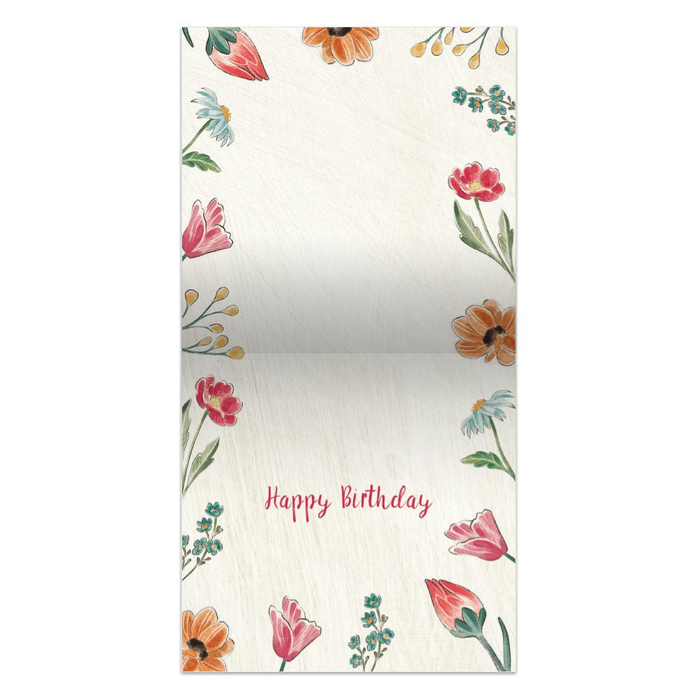 Today Choose Joy  Birthday Thumb-Tack Canvas Art Card