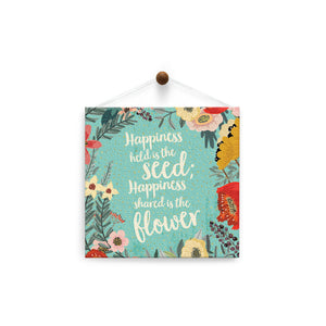 Happiness Shared  Friendship Thumb-Tack Canvas Art Card