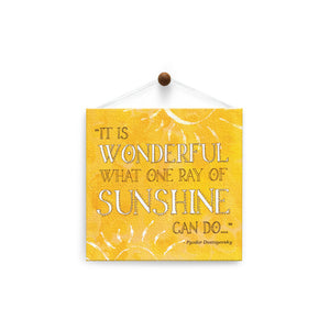 One Ray of Sunshine  Encouragement Thumb-Tack Canvas Art Card