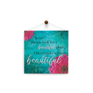Beautiful Place  All Occasion Thumb-Tack Canvas Art Card