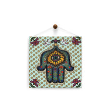 Load image into Gallery viewer, In Safe Hands Hamsa  All Occasion Thumb-Tack Canvas Art Card