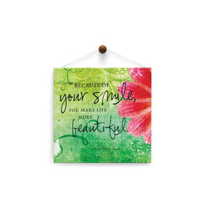 Your Smile  All Occasion Thumb-Tack Canvas Art Card