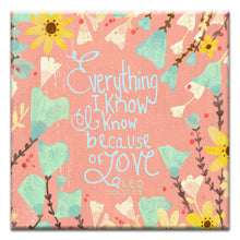 Load image into Gallery viewer, Because Of Love Wedding Thumb-Tack Canvas Art Card