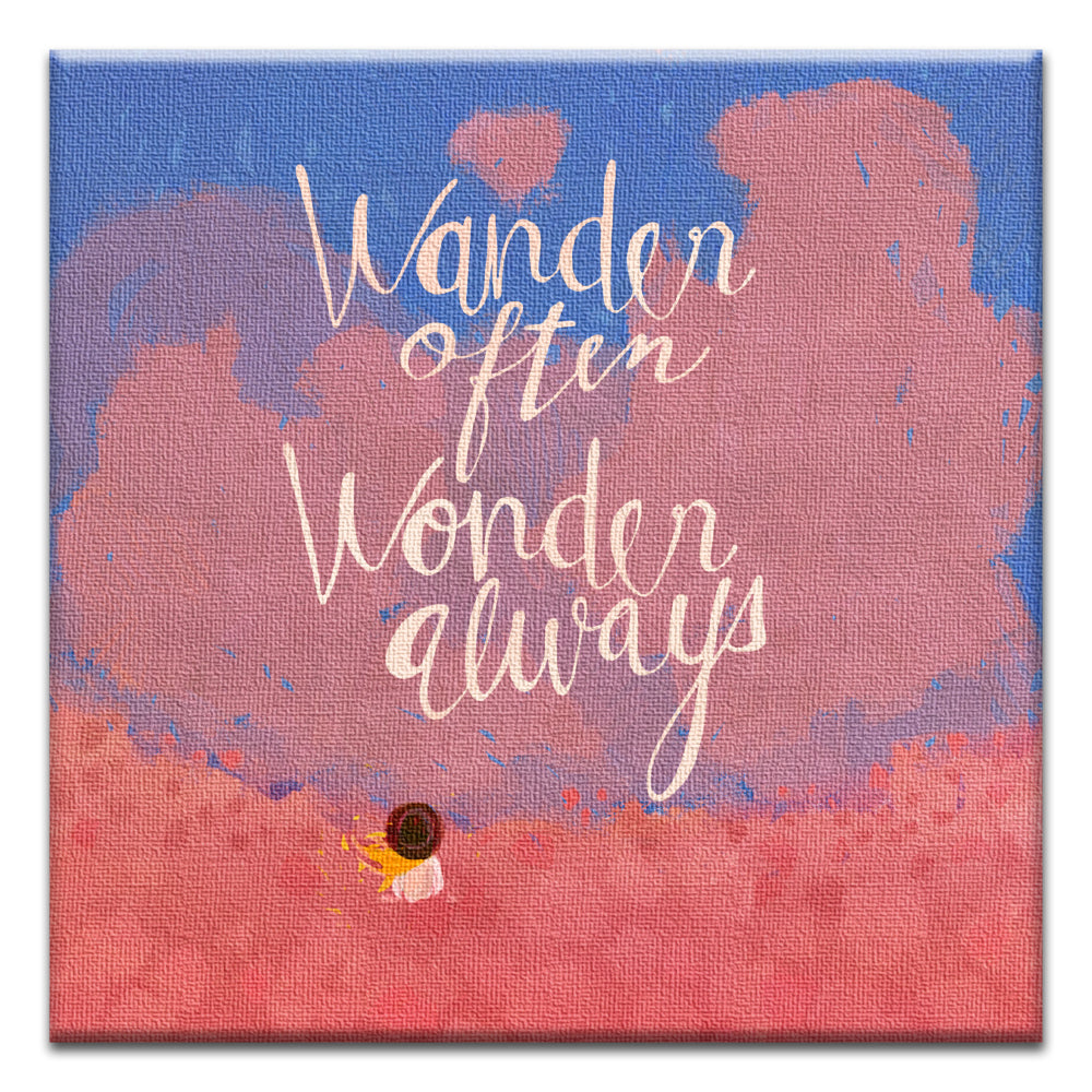 Wander Often Encouragement Thumb-Tack Canvas Art Card