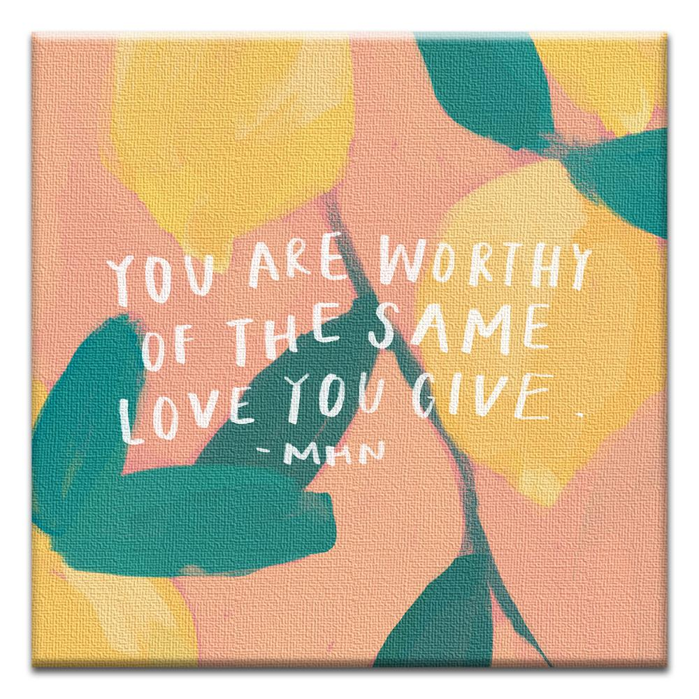 You Are Worthy Thumb-Tack Canvas Art Card 4 pack