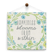 Load image into Gallery viewer, Happiness Blooms Thumb-Tack Canvas Art Card 4 pack