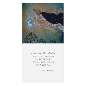 Soaring By Starlight Thumb-Tack Canvas Art Card 4 pack