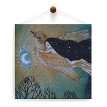 Load image into Gallery viewer, Soaring By Starlight Thumb-Tack Canvas Art Card 4 pack