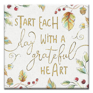 Grateful Heart Thumb-Tack Canvas Art Card