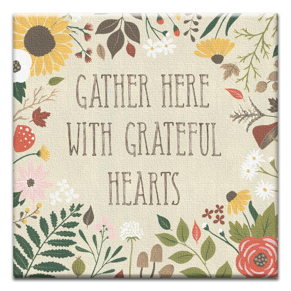 Gather Here Thumb-Tack Canvas Art Card