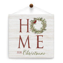 Load image into Gallery viewer, Home For Christmas Thumb-Tack Canvas Art Card