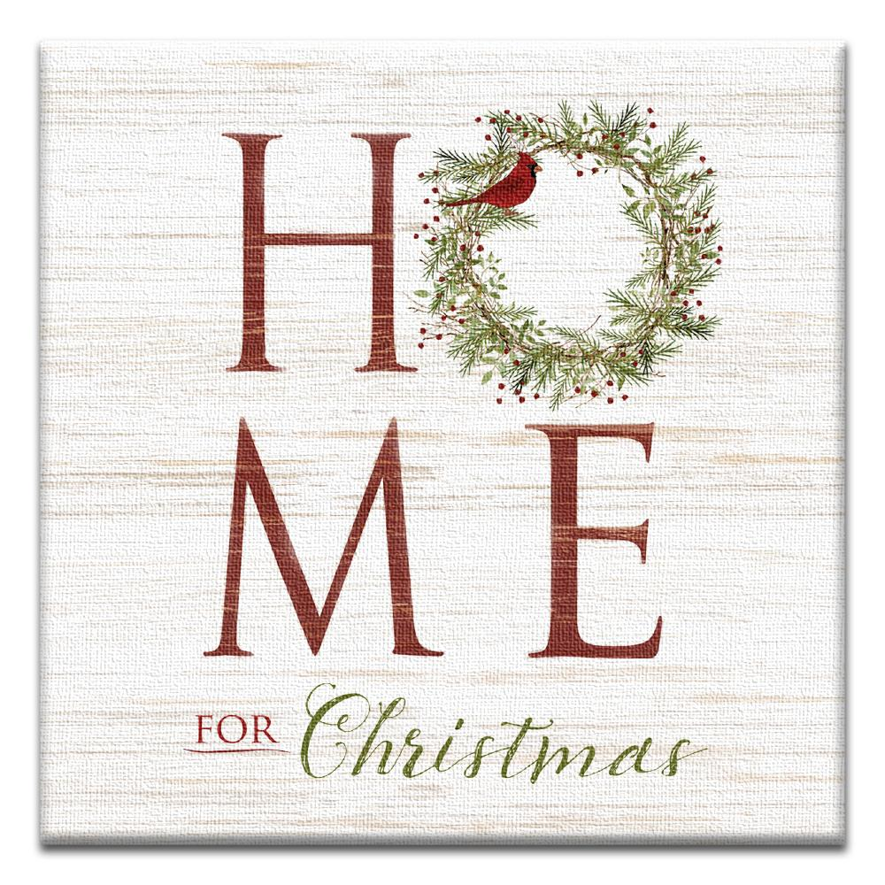 Home For Christmas Thumb-Tack Canvas Art Card