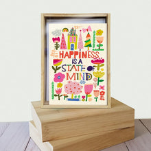 Load image into Gallery viewer, Happiness Collage All Occasion 4x6 Bamboo Box Notecard Sets