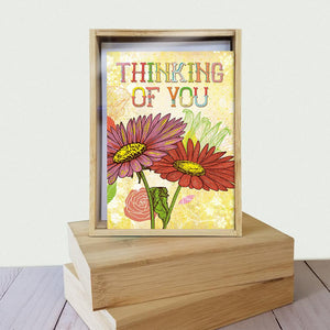 Just A Little Note All Occasion 4x6 Bamboo Box Notecard Sets