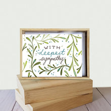 Load image into Gallery viewer, Deepest Sympathy Sympathy 4x6 Bamboo Box Notecard Sets