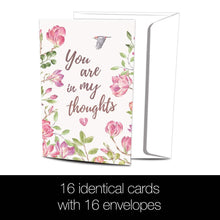 Load image into Gallery viewer, Simple Thoughts Sympathy 4x6 Bamboo Box Notecard Sets