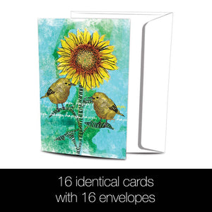 Happy Happy All Occasion 4x6 Bamboo Box Notecard Sets