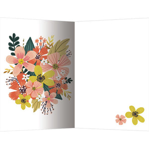 Autumn Flowers All Occasion 4x6 Bamboo Box Notecard Sets