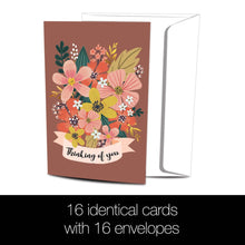 Load image into Gallery viewer, Autumn Flowers All Occasion 4x6 Bamboo Box Notecard Sets