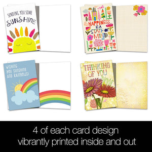 Spread Sunshine All Occasion 4x6 Bamboo Box Notecard Sets