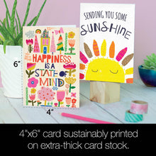 Load image into Gallery viewer, Spread Sunshine All Occasion 4x6 Bamboo Box Notecard Sets