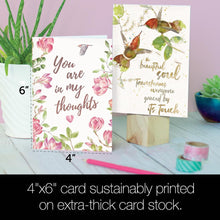 Load image into Gallery viewer, Bird Themed Sympathy Sympathy 4x6 Bamboo Box Notecard Sets