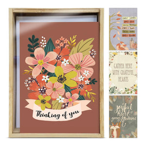 Thinking of You Autumn All Occasion 4x6 Bamboo Box Notecard Sets