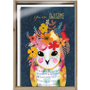 You Are Owlsome All Occasion 4x6 Bamboo Box Notecard Sets