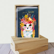 Load image into Gallery viewer, You Are Owlsome All Occasion 4x6 Bamboo Box Notecard Sets