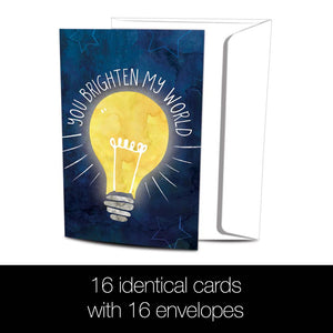 Brighten My World All Occasion 4x6 Bamboo Box Notecard Sets
