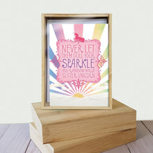 Load image into Gallery viewer, Rainbow Ninja All Occasion 4x6 Bamboo Box Notecard Sets