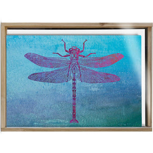 Dragonfly Print  All Occasion 4x6 Bamboo Box Notecard Sets