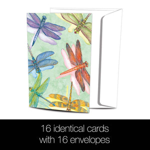 Dragonflies All Occasion 4x6 Bamboo Box Notecard Sets