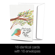 Load image into Gallery viewer, Under His Wings All Occasion 4x6 Bamboo Box Notecard Sets