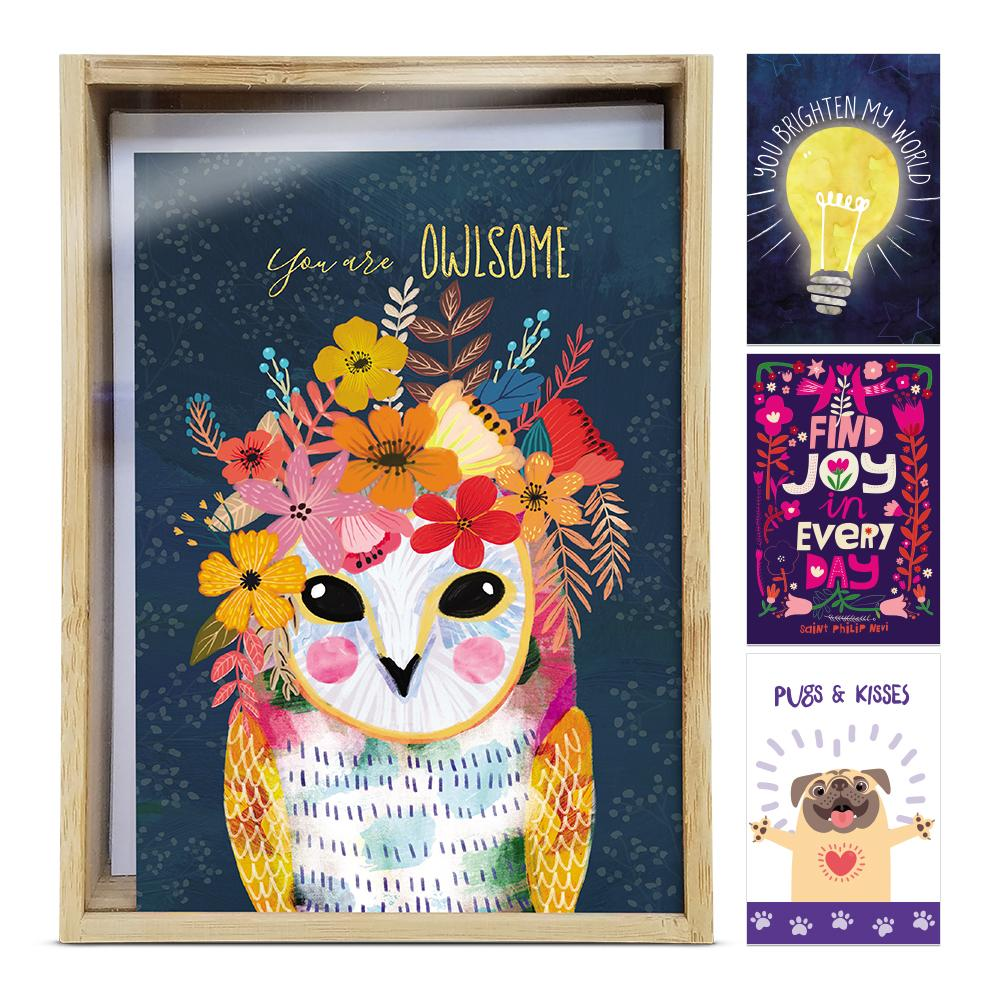 Brighten All Occasion 4x6 Bamboo Box Notecard Sets