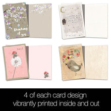Load image into Gallery viewer, Thoughts And Flowers All Occasion 4x6 Bamboo Box Notecard Sets