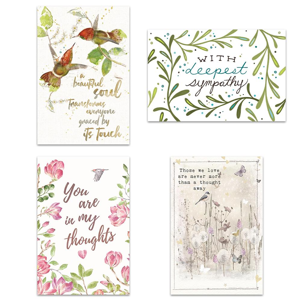 Bird Themed Sympathy 4x6 Blank Notecard  Assortment