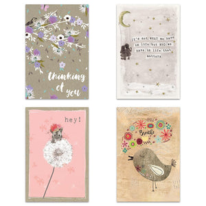 Thoughts And Flowers 4x6 Blank Notecard  Assortment