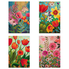 Load image into Gallery viewer, Vibrant Florals 4x6 Blank Notecard  Assortment