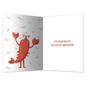 "Go Cray Birthday ECOnote 4""x6"" Greeting Card 8 pack"