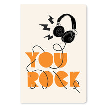 "Load image into Gallery viewer, You Rock Headphones Congratulations ECOnote 4""x6"" Greeting Card 8 pack"