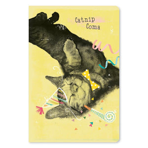 "Catnip Coma Birthday ECOnote 4""x6"" Greeting Card 8 pack"