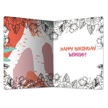 "Load image into Gallery viewer, Weird Is Awesome Birthday ECOnote 4""x6"" Greeting Card"