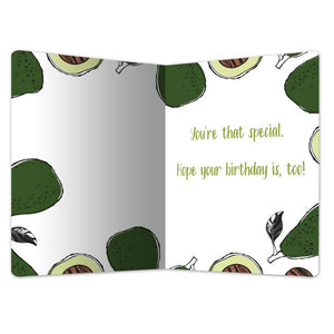 "Extra Guac Birthday ECOnote 4""x6"" Greeting Card"