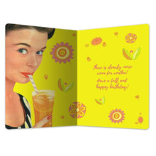 "Load image into Gallery viewer, Hiding in Orange Juice Birthday ECOnote 4""x6"" Greeting Card"